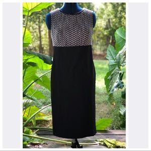 Kasper | Career Black Chevron Dress